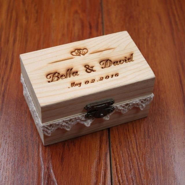 Rustikale Hochzeit Ring Inhaberaktien Box Personalisierte Hochzeit