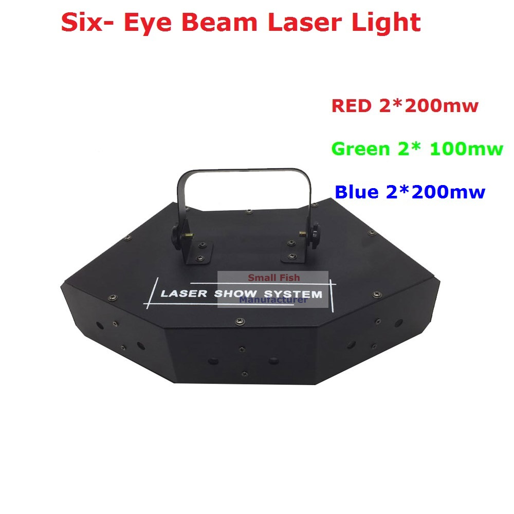 Factory Price Newest Stage Laser Light RGB Full Color Six- Eye Beam Laser Light Club DJ Disco Laser Light Projector New Design new arrival hot sale 50mw 532nm green color laser beam laser light for disco party club wedding stage