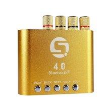 Mini 50W 50W Stereo Hifi Bluetooth Power AMP font b Amplifier b font Audio Headphone Gold