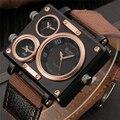 Oulm correa de tela macho cuadrado reloj para hombre relojes de primeras marcas de relojes famoso diseñador de marcas de lujo reloj casual horas hombre