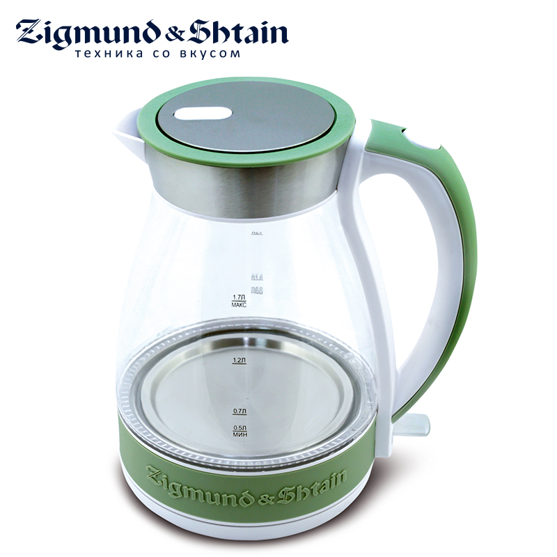 Zigmund & Shtain KE-822 Electric Kettle 2200W 1.7L Removable filter Auto shut-off when boiling Water level scale