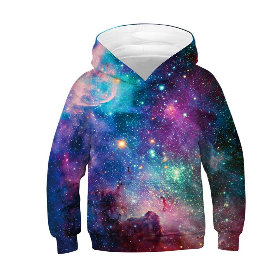 Women Men Starry Galaxy Sloth Hoodies Sweatshirt 3D Print Casual Pullover Tops