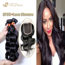 8A Body Wave Hair 3 Bundles With 1pc Lace Closure Cheap Unprocessed Brazilian Human Virgin Hair With Free Part Closure