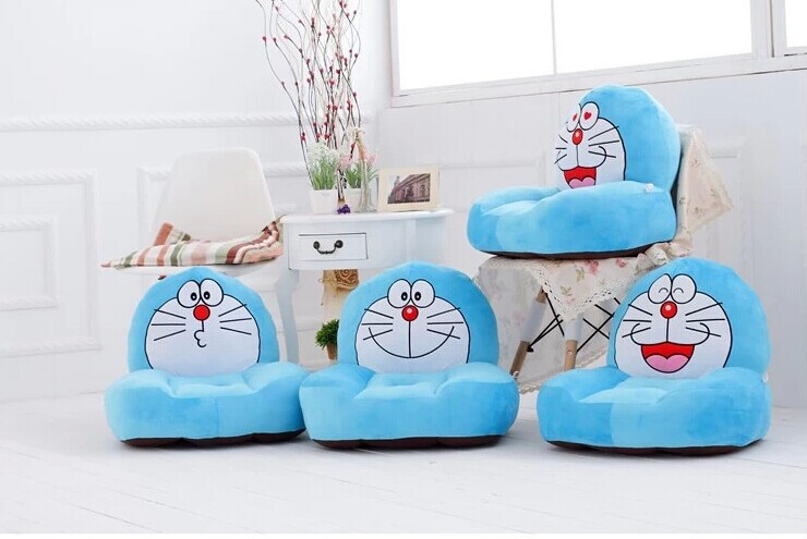 new creative plush doraemon sofa toy the stuffed cartoon blue doraemon sofa doll gift about 54x30x10cm