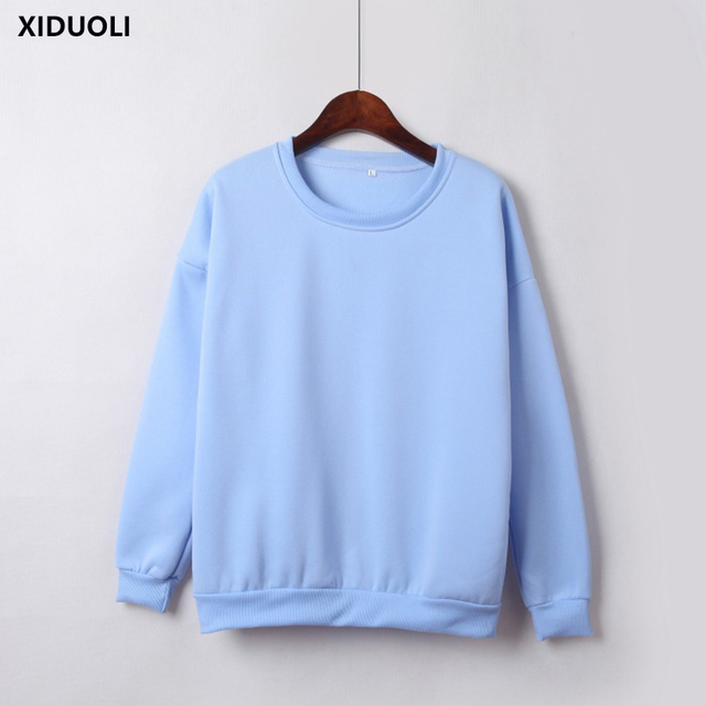 25c443596 Wholesale M-XXL Cute Women Hoodies Pullover 2018 Autumn Coat Winter Loose  Fleece Thick Knit Sweatshirt Female