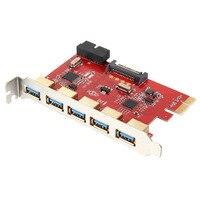החדש PCI-E ל-usb 3.0 כרטיס הרחבה עם פנימי 5-Port מחבר 20Pin מחשב AC583 EM88