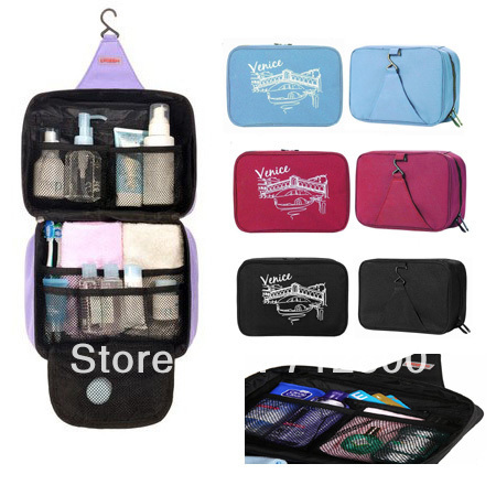 5pcs/lot High Quality Large Capacity Outdoor Hanging Wash Bag & Travel Storage Bag & Cosmetic Sorting Bags TB001
