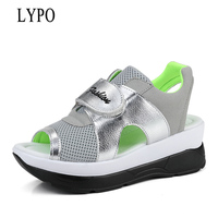 LYPO Summer Open Toe Shoes Thick Bottom Rocking Shoes Women S Sandals Casual Platform Women S