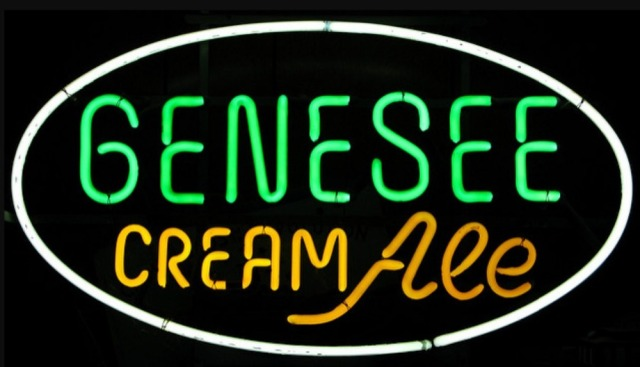 Custom Genesee Cream Ale Glass Neon Light Sign Beer Bar