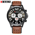 Curren Luxury Brand Watches Men's Leather Strap Casual Quartz Watch Men Chronograph Function Waterproof Sport Military Watches