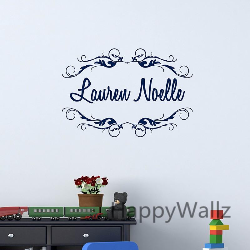 custom name baby nursery wall sticker diy personalized wall decals personalized names wall stickers