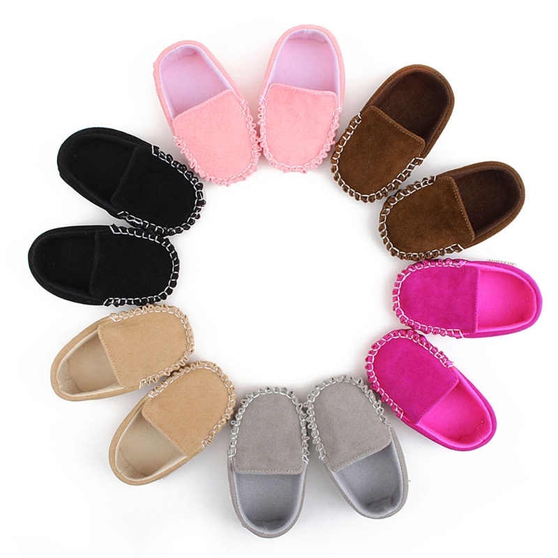 2018 New Newborn Toddler Baby Boy Girl Soft Bottom Shoes PU Leather Infants First Walkers Kids Easy Wear Crib Shoes