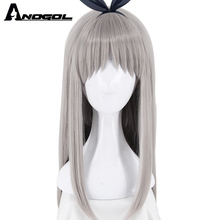 ANOGOL BEAUTY+Hair Cap Blend S Kanzaki Hideri Synthetic Cosplay Wig With  Bangs Long Straight a7151461f14f