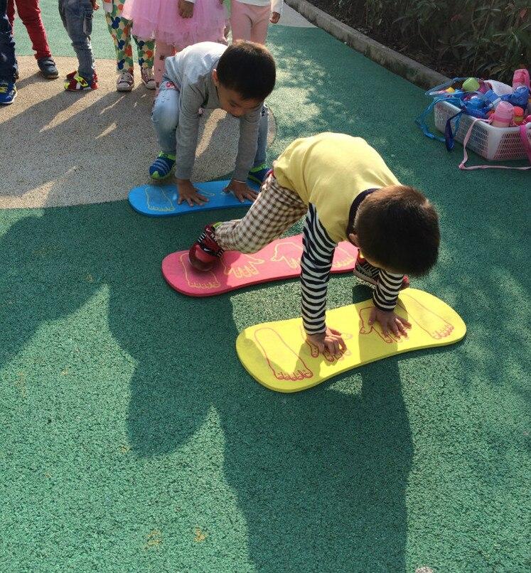 все цены на High quality EVA Foam Play Mat for shool Indoor Outdoor Sport Game Hand and Feet Jump Board toys Kids Children Kindergarten