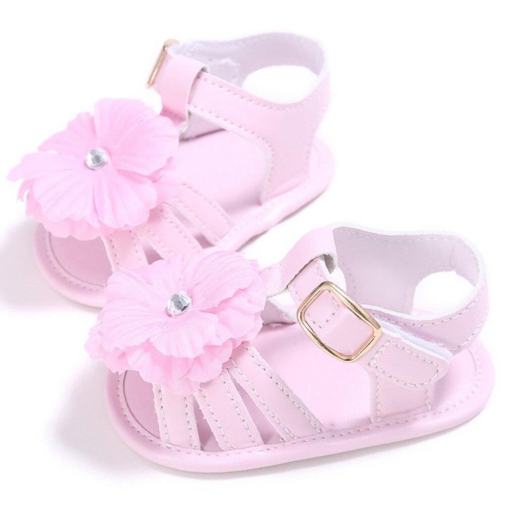 Neue Ankunft Kleinkind Prewalkers Kinder Weiche Krippe Sohle Sandale Mode Sommer Neugeborenes Baby Mädchen Lederschuhe