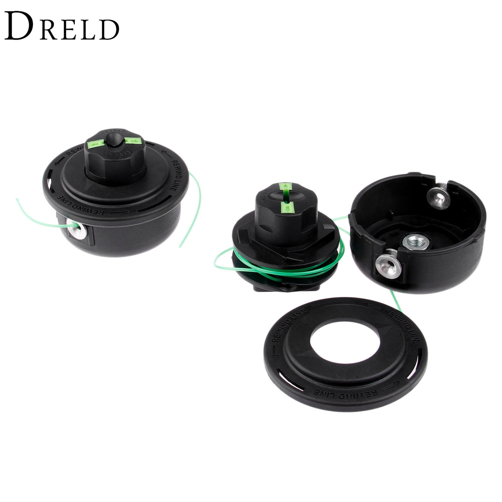 DRELD Electrical Nylon Trimmer Head Adaptor M8*1.25 Double Trimmer Line Bump and Go For Garden Use Grass Trimmer Head Tool Parts mini garden nylon grass trimmer line light purple 15m