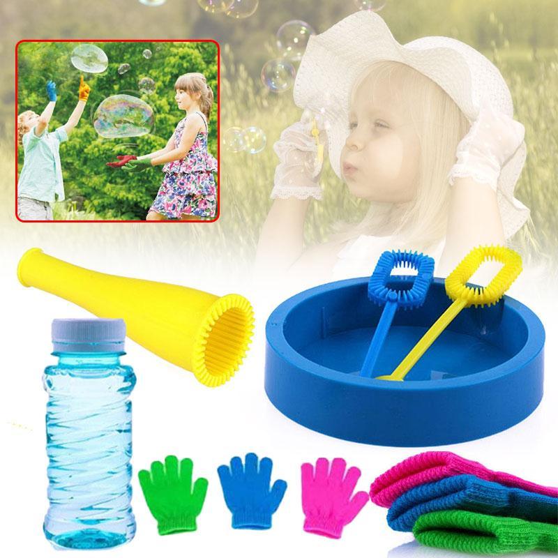 5Pcs/Set Magic Bouncing Bubble Gloves Outdoor Safe Non-toxic Gazillion Juggle Bubbles Activity Tool set Kids Children Toy