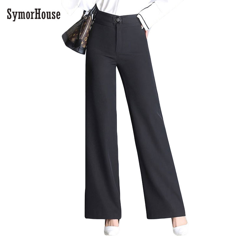 Suit   pants   Hot sale   Wide     Leg     Pants   Women Vintage Loose Plus Size High waist Soft Dance   Pants   Bell Bottom Casual Pantalon Female