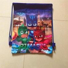 10pcs/lot of new PJ MASKS carton non-woven fabrics, drawstring backpack, event & party gift bag, shopping bag