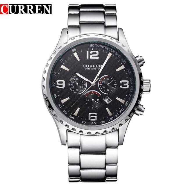 Оригинальный Новый Curren Роскошные Relogio masculino Повседневное бренд Orologio Дата Для мужчин Спорт Reloj Военное Дело Кварцевые часы 8056