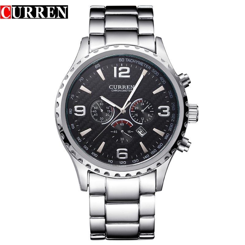 Original New CURREN Luxury Relogio Masculino Casual Brand Orologio Date Men Sports Reloj Military Quartz Watch 8056