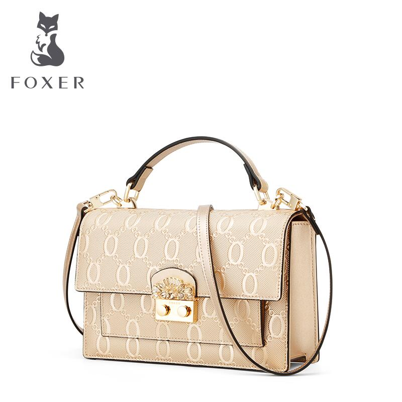 FOXER brand bags for women 2018 new women leather bag fashion Embossing small bag designer women leather handbags shoulder bag foxer 2018 new women leather bag designer fashion women famous brand cowhide small tote bag women leather shoulder bags