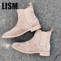 2018 Europe and the hot style leather boots man Martin British male wholesale men boots chelsea winter boots