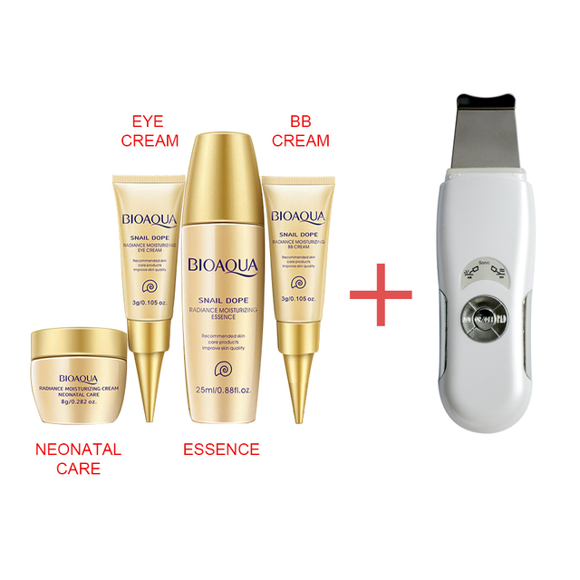 Brand ultrasonic face skin pore cleansing device blackhead removal Device Peeling shovel exfoliator deeply clean skin