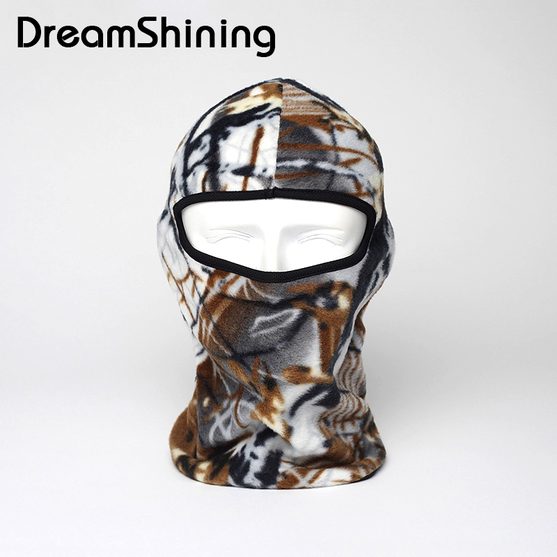 DreamShining Military Camouflage Windproof Mask Full Face Neck Guard Masks Headgear Hat Tactical Biking Cycling protection Masks