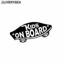 SLIVERYSEA INTERNE Kids On Board Baby aan Boord Auto Stickers Waarschuwing Viny Decals Grappig voor Auto Body Motorfiets Venster