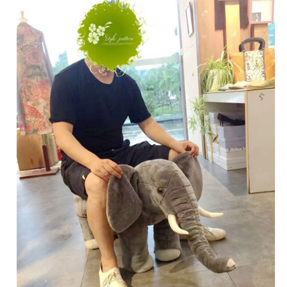 Fancytrader One Piece Pop Anime Elephant Plush Toy Stuffed Animals Elephant Chair Doll for Kids