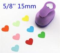 Perfurador de papel coração 15mm 5/8 shapes shapes formas artesanato perfurador diy cortador de papel scrapbooking socos scrapbook s29874
