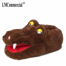 Winter Plush Home Floor Shoes House Slippers Children Women Anime Cartoon Slippers Lovers Warm Woman Slippers
