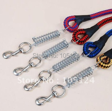 Roundline Pet Dog Lead with Spring Training Nylon Rope Leash Strap Line 3 size(Dia.1.2,1.5,2.0cm)