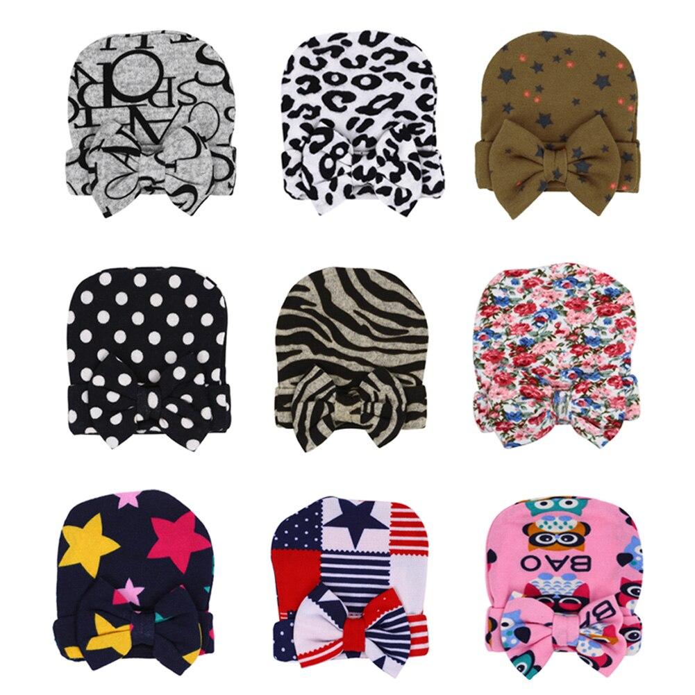 0-6M Baby Winter Autumn Crochet Baby Hat Infant Multi Colors Cotton Soft Cute Hats Cap Beanie