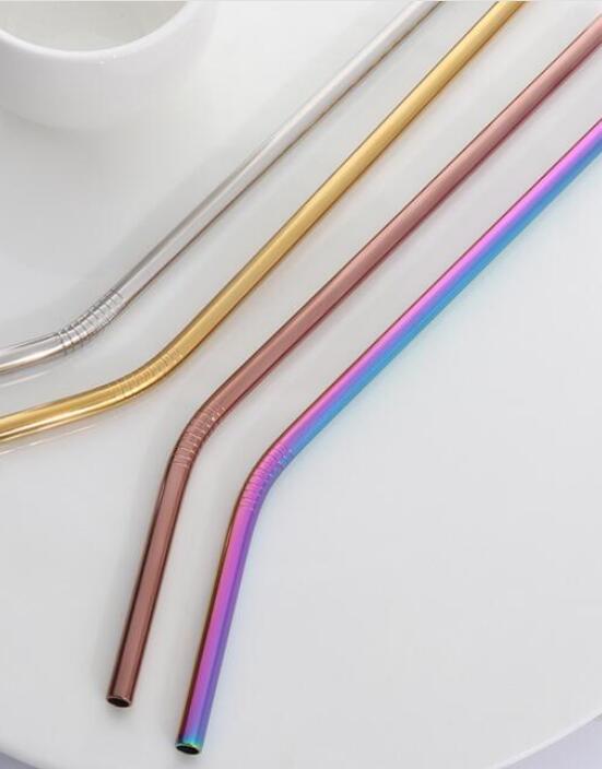 عالية الجودة الملونة القش 500 قوس قزح ، 500 الأزرق ، 500 الفضة 250 الذهب ، 250 البرونزية. + 1200 فرش-في ماصات الشرب من المنزل والحديقة على  مجموعة 1