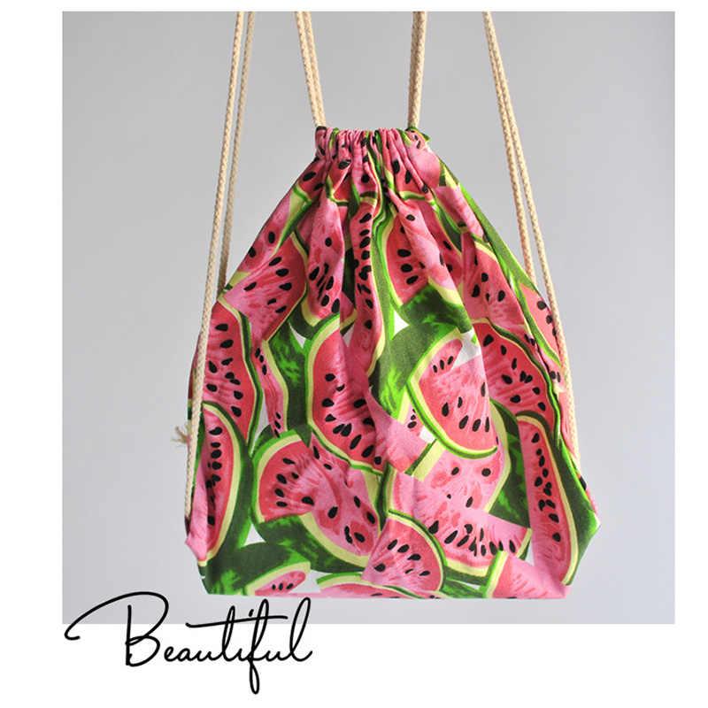 Cute Kid Baby Watermelon Canvas Sport Bags Swimming Bags Gym Pump Bag Sports  School Drawstring Boy 90ed5efafc613