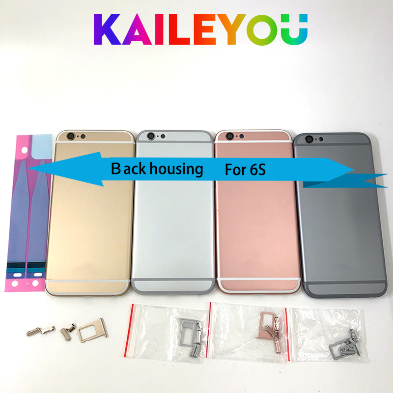 eb4b423420c AAAA quality For iPhone 6S Back Housing Battery Cover Rear Door Middle  Chassis Replacement For iPhone 6S Back cover+ IMEI