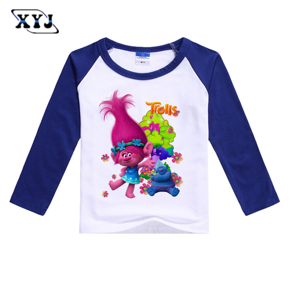 2017 Kids T Shirts For Girls Trolls Long Sleeve T Shirt