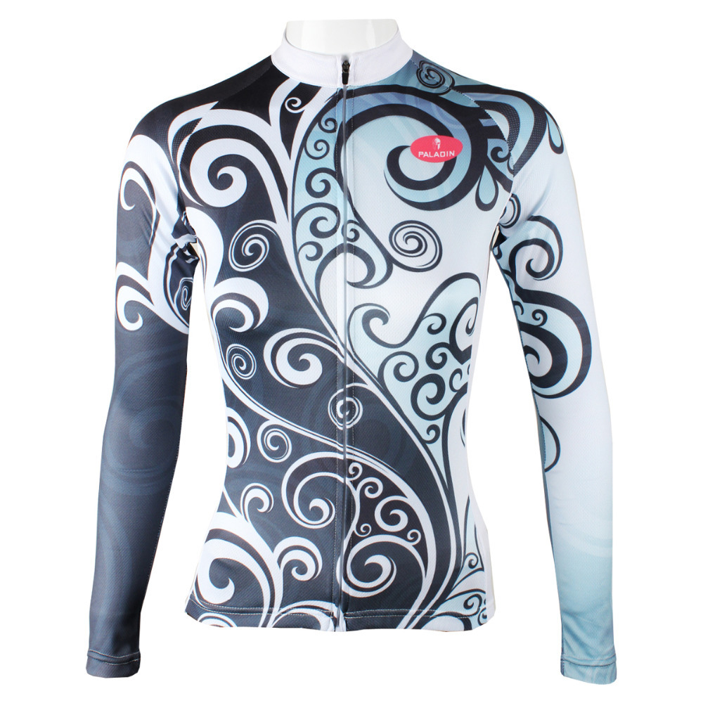 Personality Arabesques Women Polyester Long Sleeve Cycling Jersey Breathable Bicycle new Gray Bike Clothes size Size XS-6XL  2017 mavic maillot ciclismo zebra pattern men personality long sleeve cycling breathable bike bicycle clothes polyester s 6xl