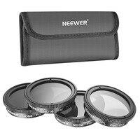 Neewer 4 Pieces Lens Filter Set For DJI Phantom 4 Phantom 3 Professional Advanced Polarizer CPL