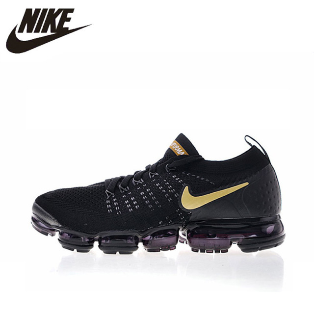 the latest d3f5b a8b72 US $102.2 30% OFF|NIKE AIR VAPORMAX FLYKNIT 2 Mens and Women Running Shoes  Lightweight Sneakers 942842 009 Black 36 45-in Running Shoes from Sports &  ...