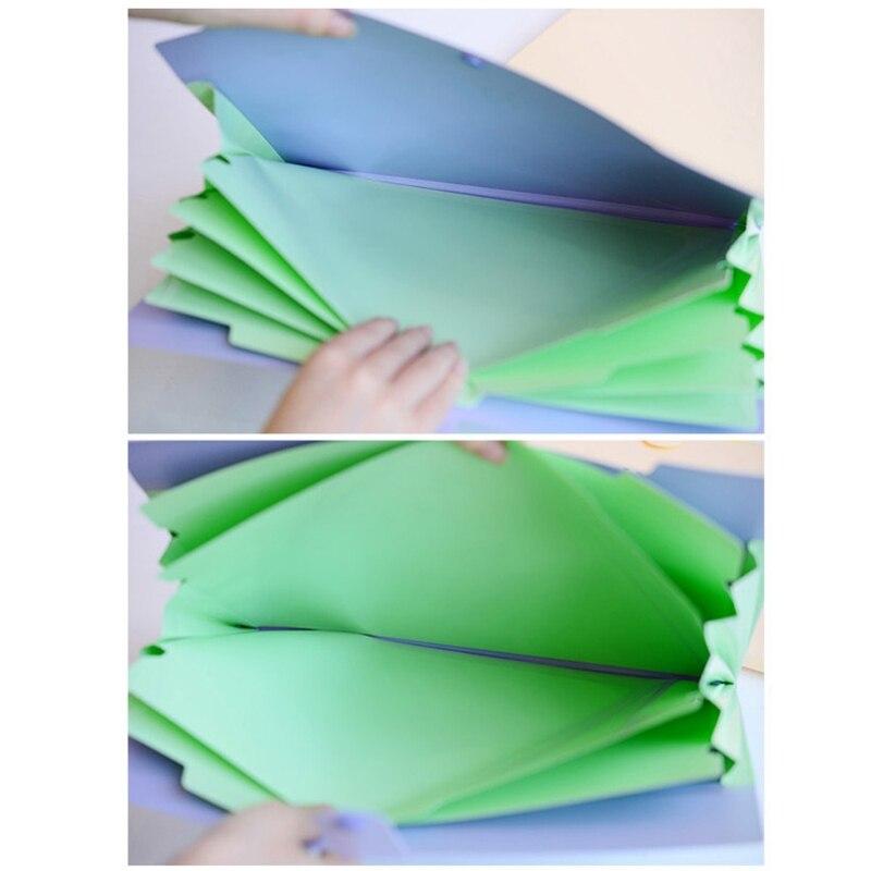 Водонепроницаемая папка для документов повестки дня A4 сумка Документ файл папку 5 слоев Arc10 Цвет Carpetas со смайликами