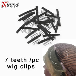 Xtrend 10 à 40 pièces 7 Dents Perruque Clips Snap Clip Spinki Pince klips Extension de Cheveux Peignes Clipes Armure Klip Perruque Fournitures