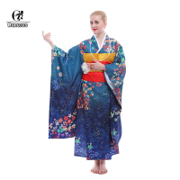 ROLECOS Japanese Kimono Traditional Yakata Night Robes Women Bath Gown Girl Cosplay Costumes With Obi Belt