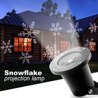 Halloween Christmas Lighting 6W Garden Led Light Waterproof Outdoor Lighting Show Projector Snowflake Light Outdoor Decoration