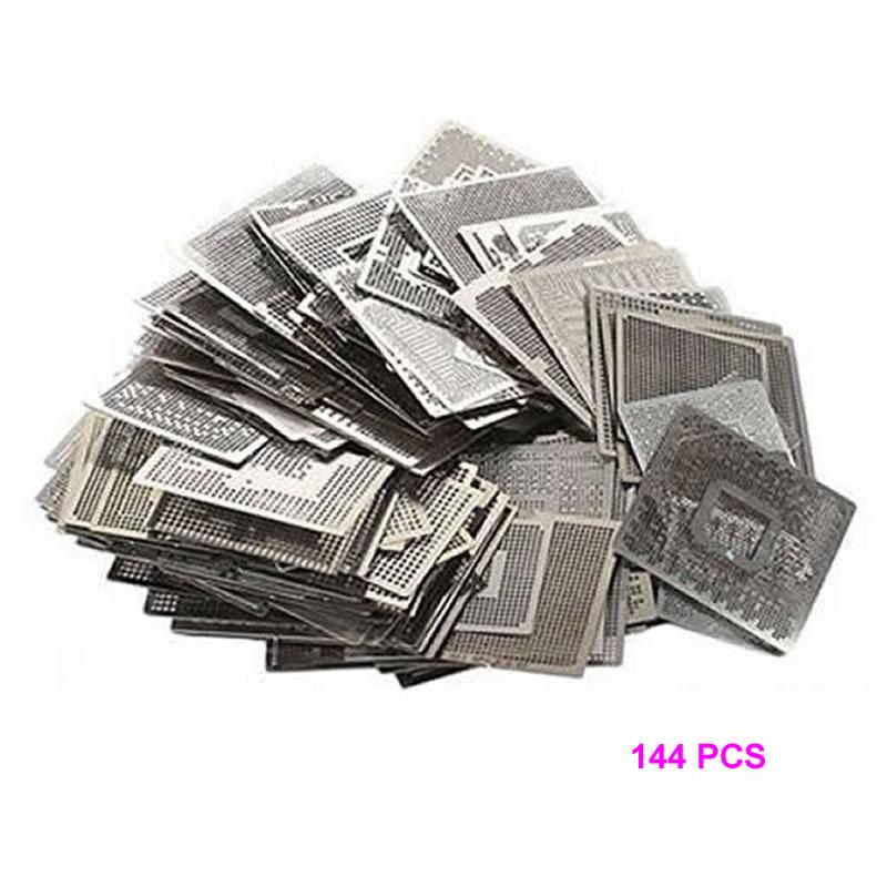 Direct Heat Graphics Card Stencils 144pcs For INTEL/ NVIDIA/ ATI Video Chips BGA Reballing