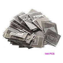 Прямая Тепловая графика карточные трафареты 144 шт. для INTEL/NVIDIA/ATI видео чипы BGA реболлинга