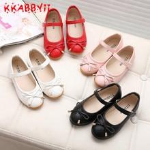 Новая весенне-Осенняя обувь для девочек, детская обувь, черные/белые/розовые/красные туфли принцессы для девочек, обувь для студентов, 4 цвета, европейские 21-36