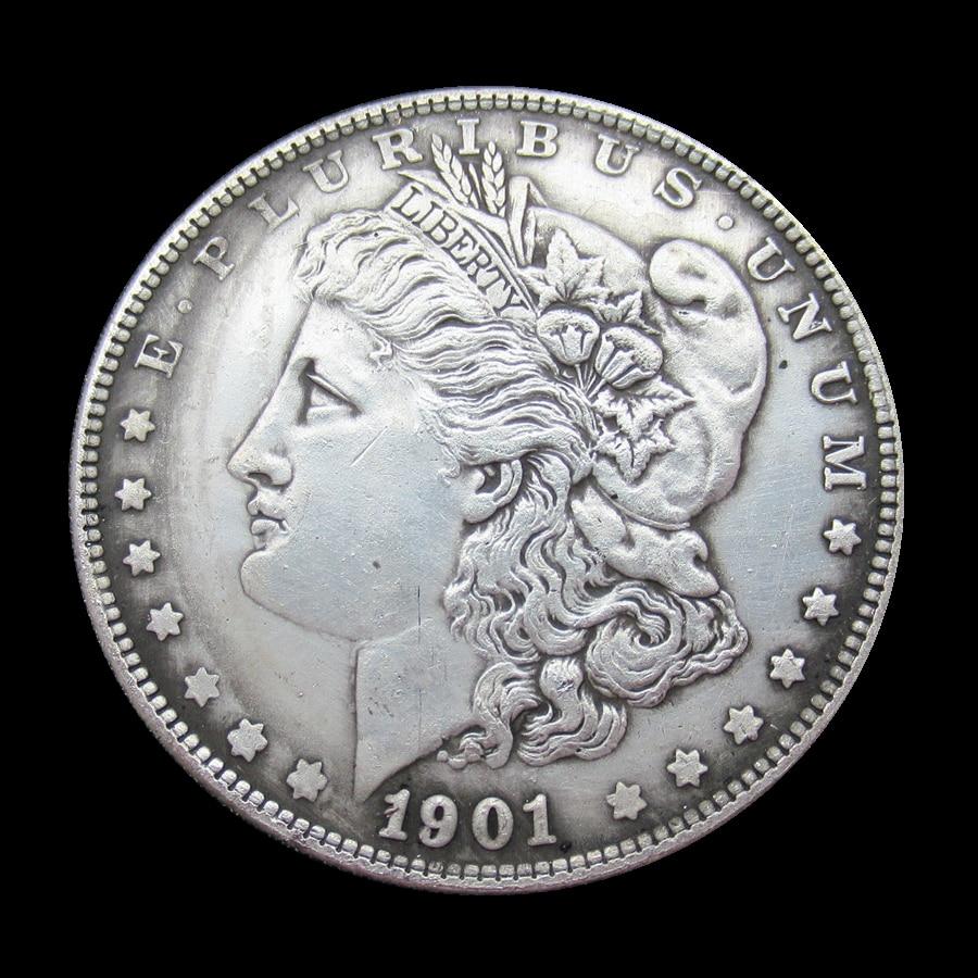 Ornamente Ehrgeizig Morgan Dollar 1901-o Echt Silber Überzogene Usa Retro Gestempelt Münzen Durchmesser 38,1 Mm Replik Wohnkultur